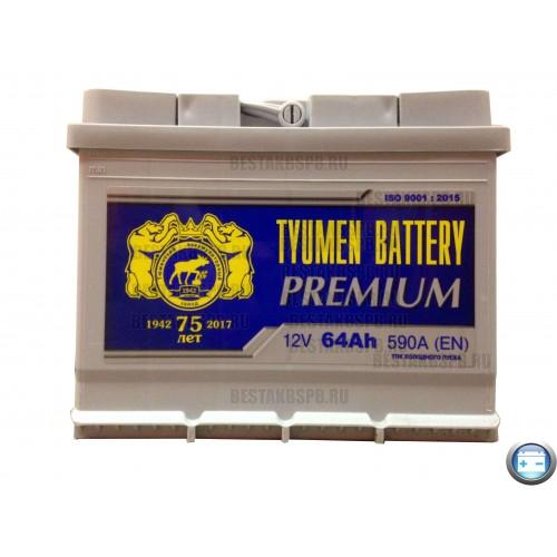 Аккумулятор Тюмень Премиум 64 а/ч r