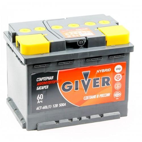 Аккумулятор Giver 6СТ 60 R